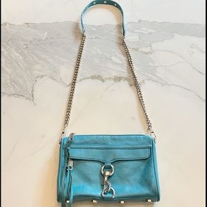 Rebecca Mincoff Mini M.A.C leather bag in Teal
